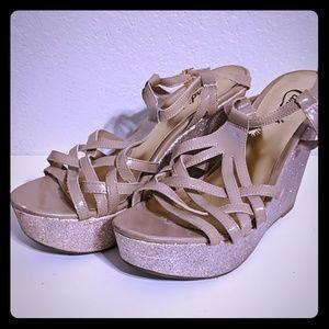 Candies Strappy Wedge Sandals